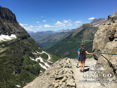 Highline trail in Glacier National Park