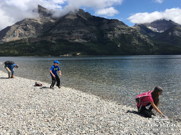 Waterton Lakes National Park throwing rocks