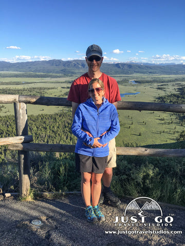 Pete and Amy in Grand Teton National Park