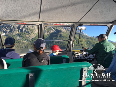 Taking the ferry across Jenny Lake in Grand Teton National Park