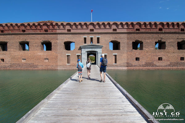 walking into fort jefferson