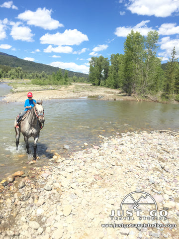 River crossing in Grand Teton National Park with Swift Creek Outfitters