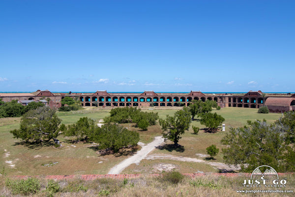 view from above fort jefferson