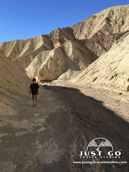 Hiking on the Golden Canyon trail in Death Valley National Park