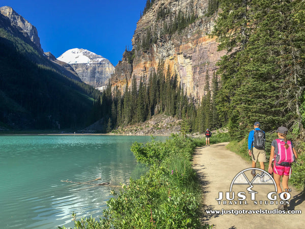 Lake Louise shoreline trail in Banff National Park