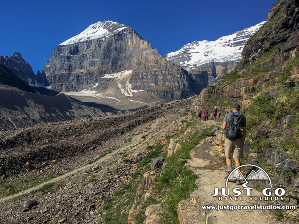 Plain of the six glaciers hike in Banff National Park