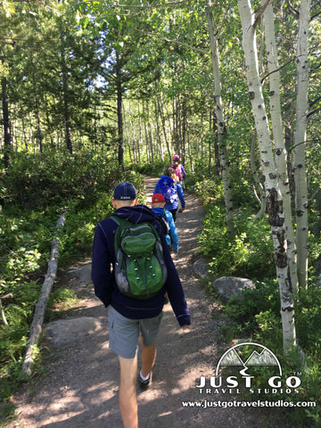 Hiking on the Taggart Lake Trail in Grand Teton National Park