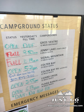 Campground updates at the Craig Thomas Discovery Center