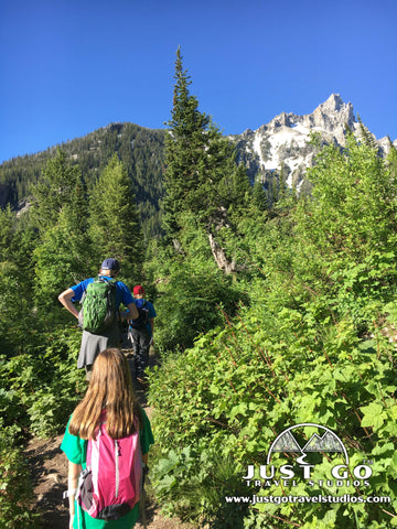 Hiking up to Inspiration Point in Grand Teton National Park
