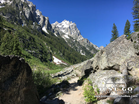 Hiking into Cascade Canyon in Grand Teton National Park