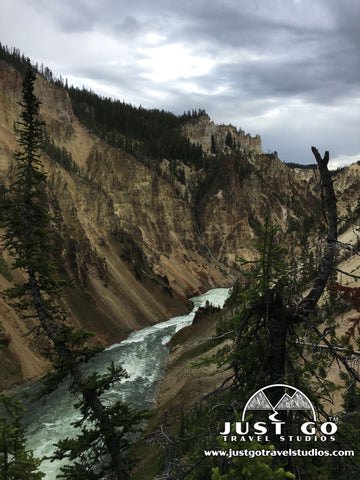 Yellowstone River, as seen from the bottom of Uncle Tom's Trail in Yellowstone National Park
