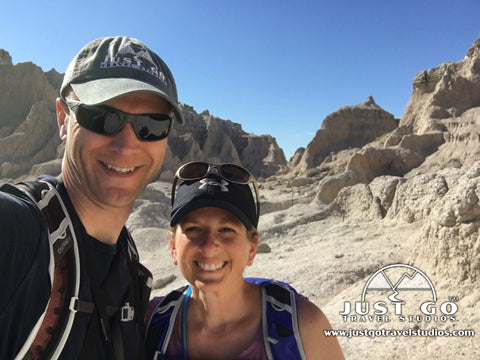 Amy and Pete Brahan on the Notch Trail in Badlands National Park