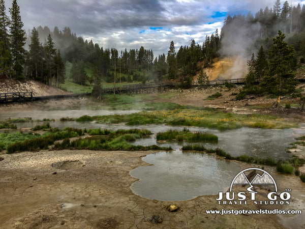 Mud Volcano trail in Yellowstone National Park