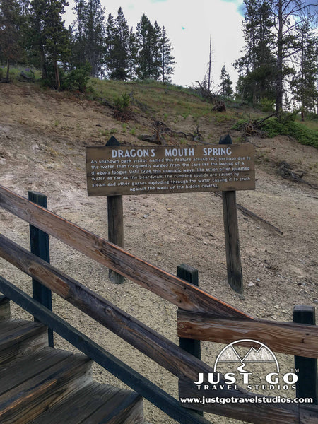 Dragons mouth spring in Yellowstone National Park