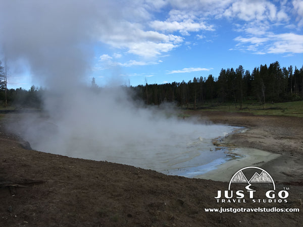 Churning Caldron in Yellowstone National Park