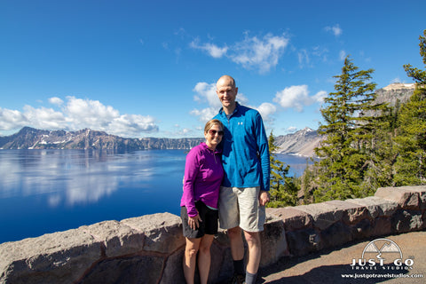 Amy and Pete in Crater Lake National Park