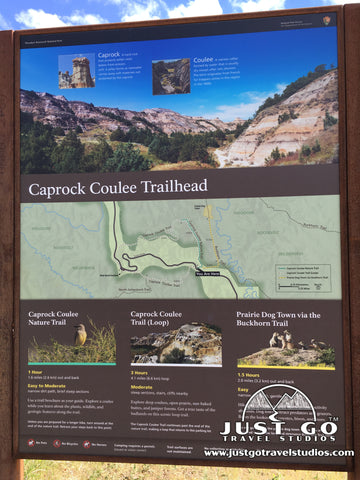 Caprock Coulee Trailhead in Theodore Roosevelt National Park