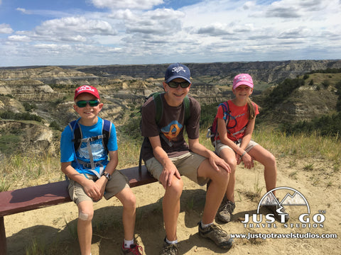 Resting on the Caprock Coulee Trail in Theodore Roosevelt National Park