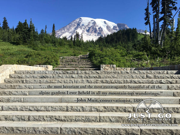 John Muir Quote in Mount Rainier National Park