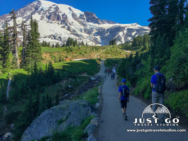 Hiking up to Observation Point in Mount Rainier National Park