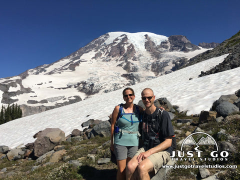 Amy and Pete in Mount Rainier