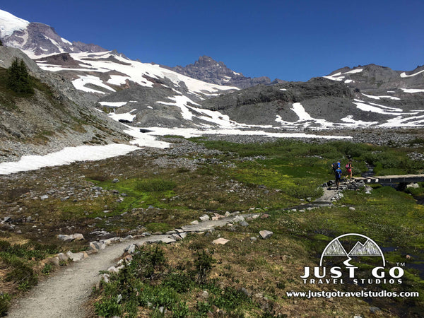Hiking in Mount Rainier National park