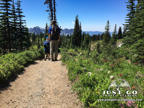 Hiking into Paradise Valley in Mount Rainier National Park