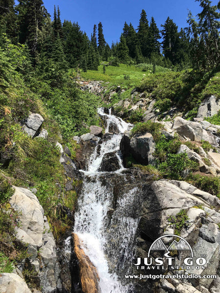 waterfall on the skyline trail in Mount Rainier National Park