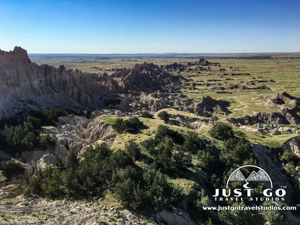 A view from the Notch on the Notch Trail in Badlands