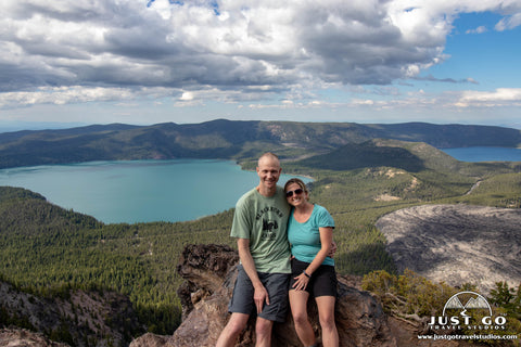 Amy and Pete in Newberry Volcanic National Monument
