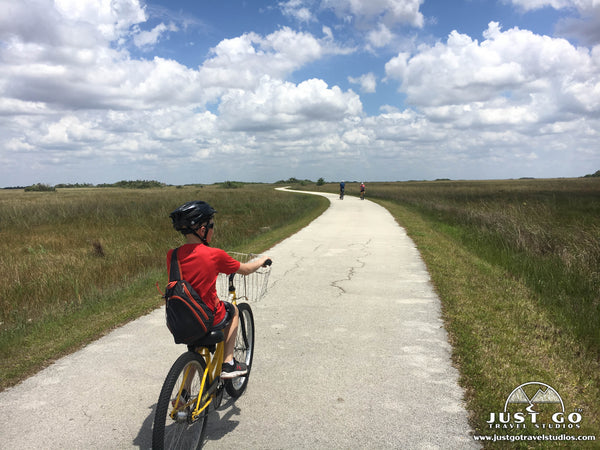 biking in Shark Valley in Everglades National Park
