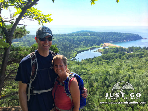 Amy and Pete from Just Go Travel Studios in Acadia National Park