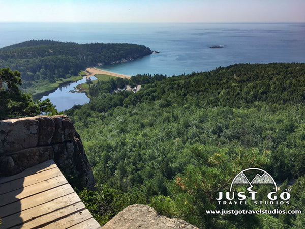Acadia National Park Beehive Trail, a view from the top