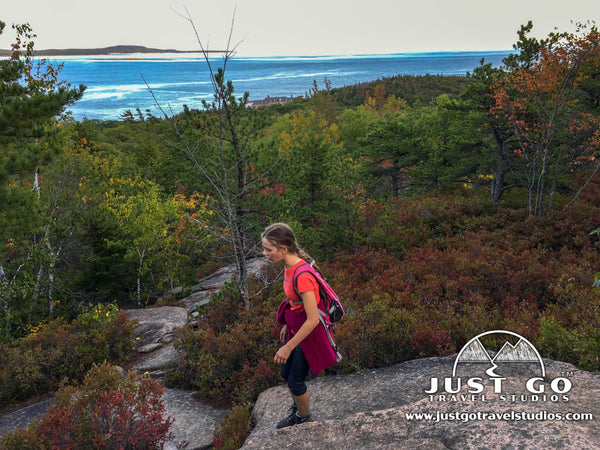 Hiking on the Orange and Black Trail in Acadia National Park
