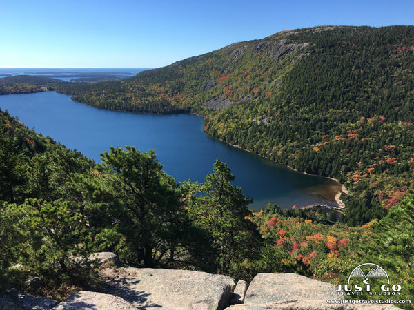 a view from south bubble in Acadia National Park