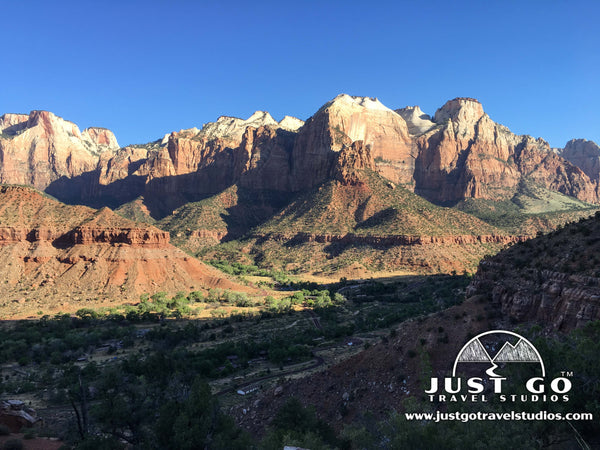the view from the watchman trail in Zion national park