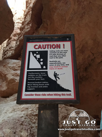Falling Rocks Sign in Navajo Loop