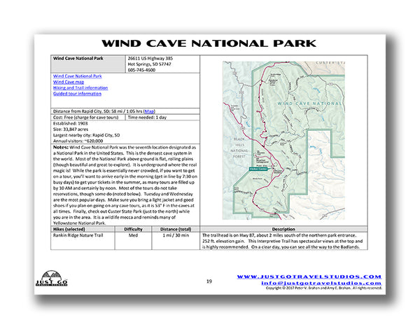 Wind Cave Itinerary