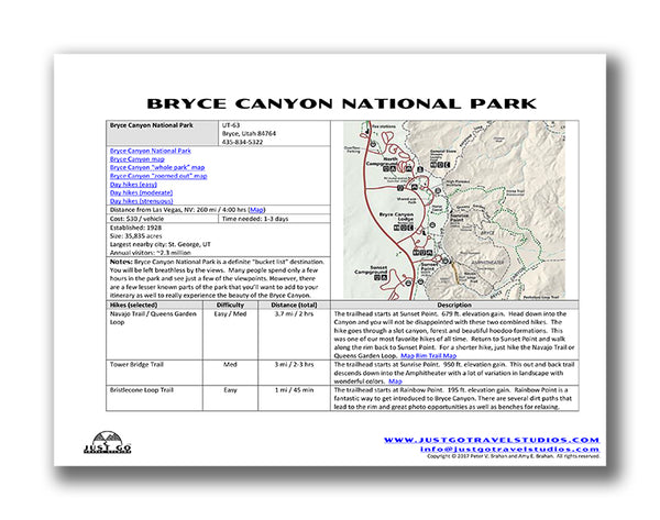 Bryce Canyon Itinerary
