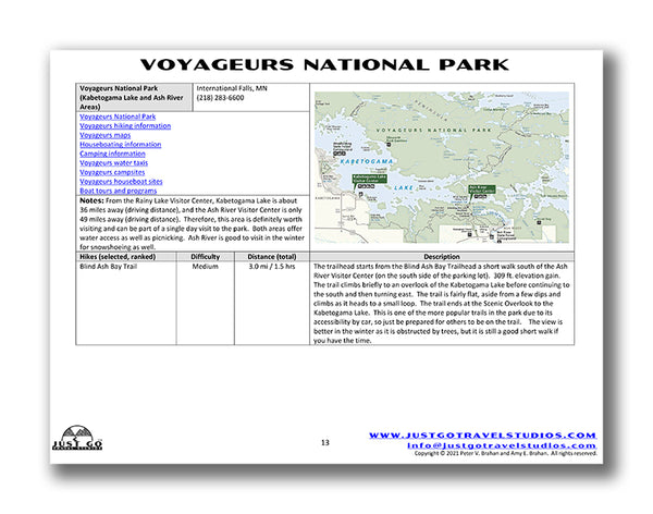 voyageurs national park itinerary