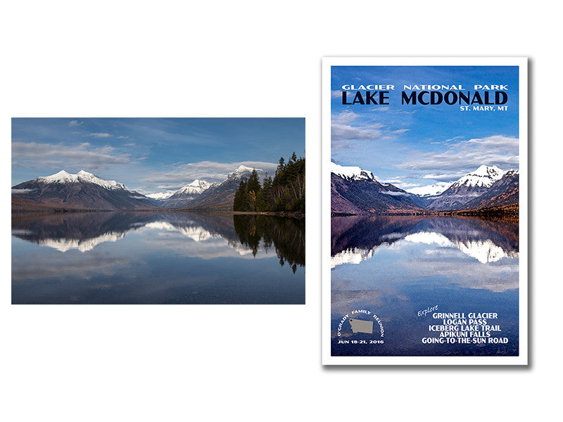 Lake McDonald and Glacier National Park Poster