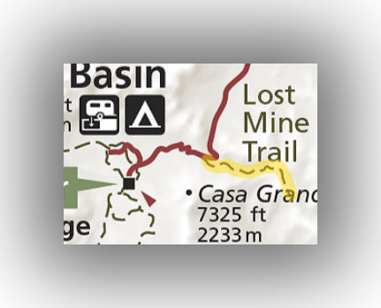Lost Mine Trail Map in Big Bend National Park
