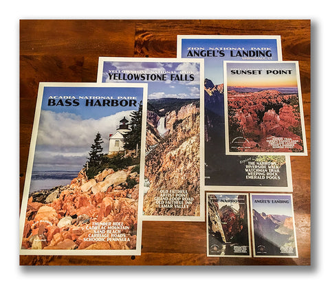 Custom National Park Posters from Just Go Travel Studios