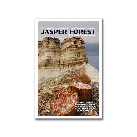 Custom Petrified Forest National Park Poster from Just Go Travel Studios