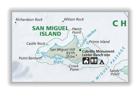 San Miguel Island Map
