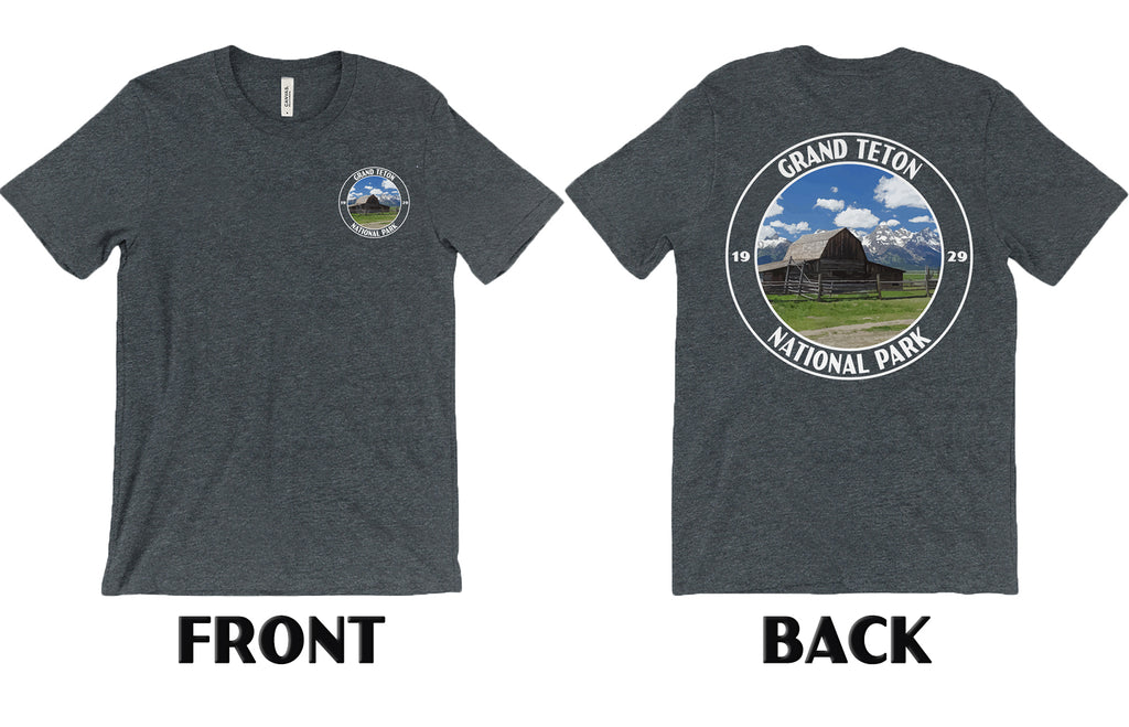Custom National Park Shirt front and back