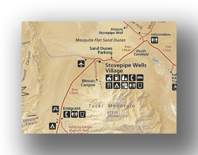 Stovepipe Wells area map