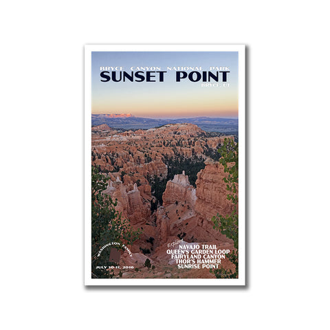 Sunset Point Poster for Bryce Canyon National Park