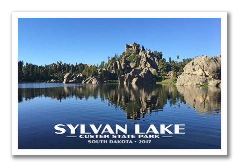 sylvan lake custom vintage style poster from just go travel studios