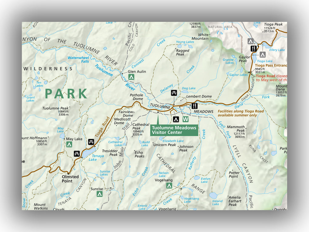 Tuolumne Meadows Trail Map